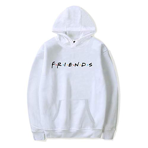 Capucha Friends Hoodie Women's Casual Letter Printing XL XL Women's Sweatshirt Women's Fashion Hooded Pullover 5XL White