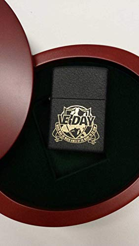 Zippo VE-Day limitiert Black Crackle Nummer 237/1000 Victory in Europe Day