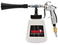 The Tornador Black produces enormous power with a very small air compressor Double the power of the Tornador Classic Wear is minimized because the rotation set no longer comes in contact with the cone.