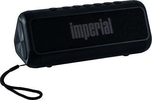 Imperial BAS 6 Solar-Bluetooth 4.1-Stereo-Lautsprecher (2X 8 Watt, microSD, USB, Aux, 2.500mAh) schwarz