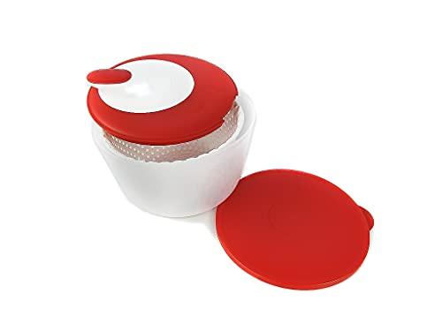 Tupperware C26 Super Centrifuga Bip Bip da 3,8 L Bianco Rosso + Panno in Microfibra 5472