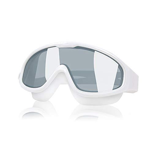 TOMYEER - Máscara de buceo con máscara de esnórquel, parte superior seca, con película antiniebla, antifugas, resistente a los impactos, diseño de vidrio templado, para adultos