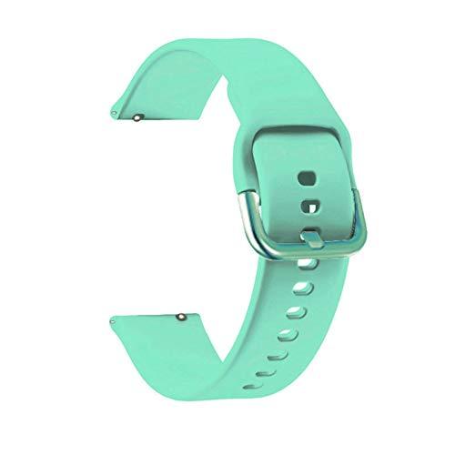 YGGFA Correa de silicona suave de 20 mm para Huawei GT 2 de 42 mm, pulsera deportiva para Honor Magic 2 de 42 mm, accesorios de correa de muñeca (color de la correa: menta, ancho de la correa: 20 mm)