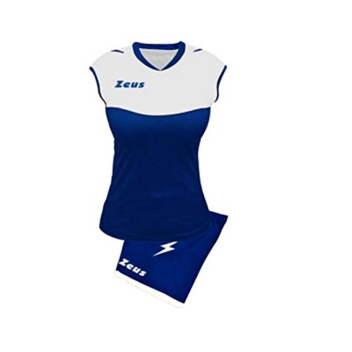 Zeus Sara Volleyball-Komplett-Set für Schule, Sport, Training, Volley, Pegashop (ELECTRIC ROYAL-BIANCO, L)
