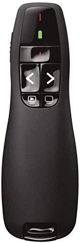 2.4GHz powerpoint clicker,Wireless USB Presentation Clicker -Red Laser Pointer, Intuitive Slides Remote Control Keynote (Black)