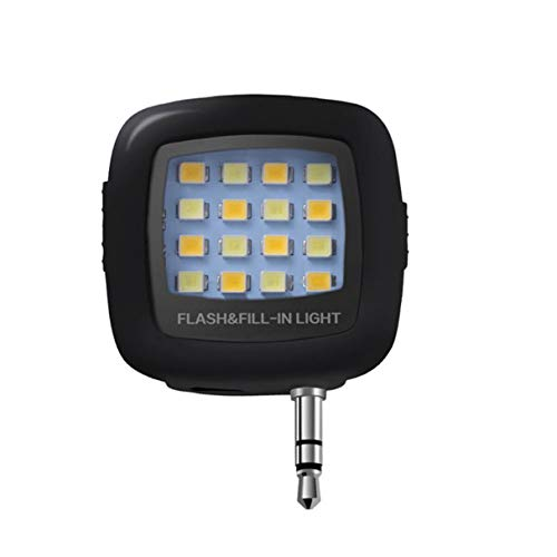 Morninganswer Flash LED Selfie de Uso Duradero para teléfono Celular Smartphone Linterna Selfie portátil Redonda Mini Linterna de cámara