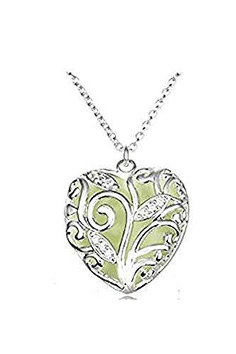 one jewerly Un collar luminoso verde con forma de corazón