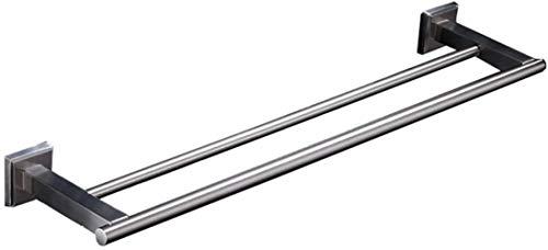 Handring Geborsteld RVS 304 Vierkante Badkamer Handdoek Bar/Dubbele Handdoek Ophangstaaf/Boor Bevestiging/Afmetingen 60x12cm Toren Hanger Droogrek