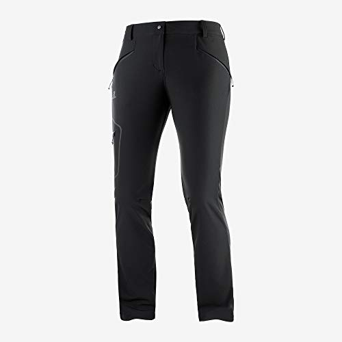 SALOMON Wayfarer As Straight Pant Pantalon Femme, Noir, 42/L
