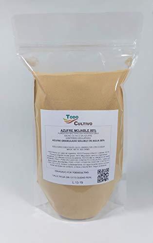 Azufre Hidrosoluble al 80%. Envase 500 Gramos. Utilizado como Fungicida acaricida para tratamientos Vegetales o bactericida desinfectante contra Insectos y ácaros.