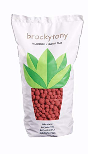 brockytony 8-16 mm. (Pflanzton, Pflanzgranulat, Blähton) 2 Liter. ROT. BT801Y2