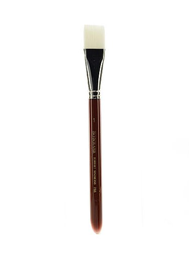 Robert Simmons White Sable Short Handle Brushes 1 in. wash 755