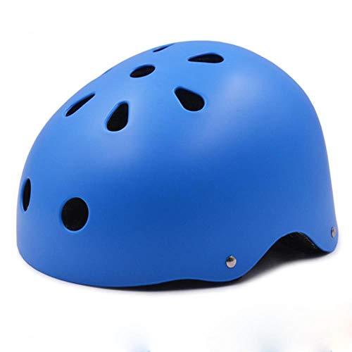 Fietshelm Kinderen/Volwassenen Heren Dames Sportaccessoires Fietshelm Verstelbare hoofdmaat Bergweg Fietshelm, blauw, M (55-59CM)
