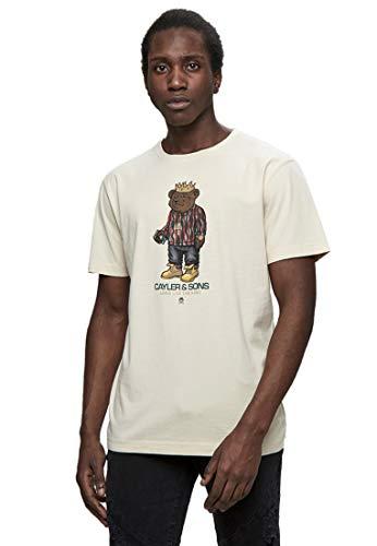 Cayler & Sons Herren C&S WL Bedstuy Tee T-Shirt, Sand/mc, 2XL