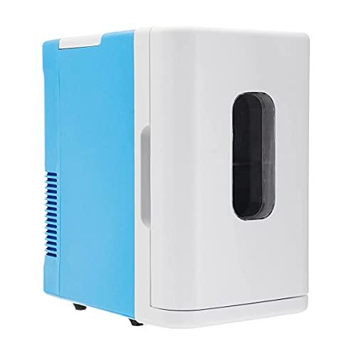 XiYou Refrigerador de Coche eléctrico de 220 V y 10 l, frigorífico pequeño para Dormitorio, minirefrigerador Multiusos, Coche, hogar, Doble Uso (Blanco)