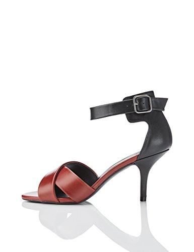 Marca Amazon - find. Sandalias de Tiras Cruzadas y Pulsera para Mujer