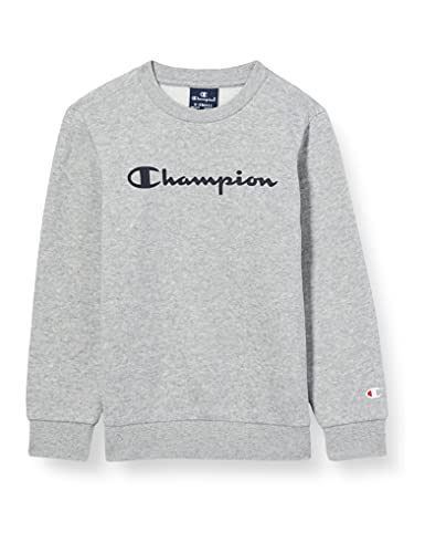 Champion Jungen Legacy Classic Logo Pullover, Helles Heather Grey, 15-16 Jahre