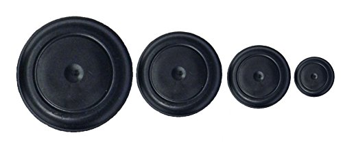 """Rubber Hole Plugs 0.75"""" 1"""" 1.25"""" 1.5"""" 4 Pieces Quantity 1 of 3/4, 1, 1-1/4, 1-1/2 inch"""