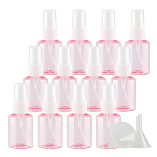 TIANZD 24 Piezas30 ml Botella de Spray Plástico Vacías Rosacon Bomba en Spray de Niebla Fina Atomizador Pequeño para Perfume Viaje Artículos de Agua Cosmético Alcohol