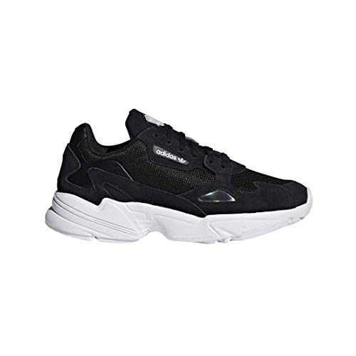 adidas Originals Women's Falcon Running Shoe, Black/White, 10 M US