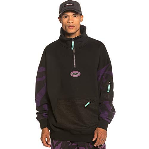 GRIMEY Sudadera Mysterious Vibes High Neck Sweatshirt FW19 Black-S