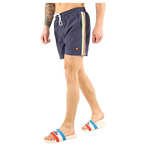 ellesse Badehose Herren Salerno Swim Short Schwarz Black (Blau), Größe:XL