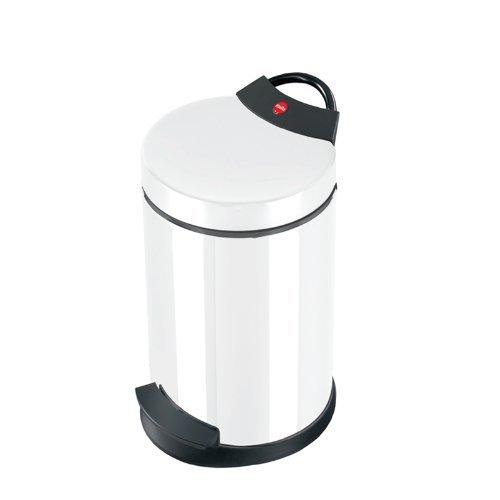 Hailo T2 S, Mülleimer aus Stahlblech, 4 Liter, Müllbeutel-Klemmung, Anti-Rutsch-Fuß, Tragegriff, made in Germany, 0704-429