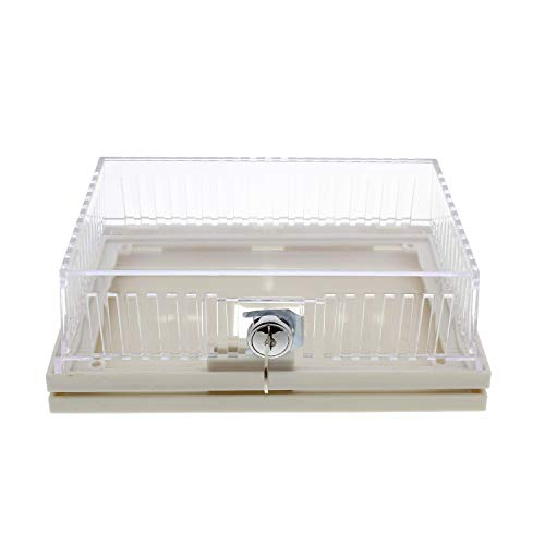 BISupply AC Thermostat Cover with Lock, AC Thermostat Lock Box Cover Thermostat Guard with Lock – 8.5 x 2.9 x 5.6 Inch