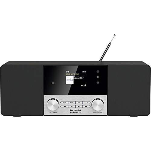 TechniSat DIGITRADIO 4 C - Stereo Digital-Radio (DAB+, UKW, Farbdisplay, Bluetooth-Audiostreaming, Kopfhöreranschluss, AUX-Eingang, Radiowecker, OLED Display, 20 Watt RMS, Elac Lautsprecher) schwarz
