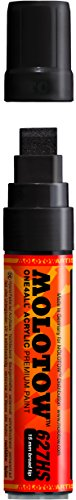 Molotow ONE4ALL Acrylic Paint Marker, 15mm, Signal Black, 1 Each (627.212)