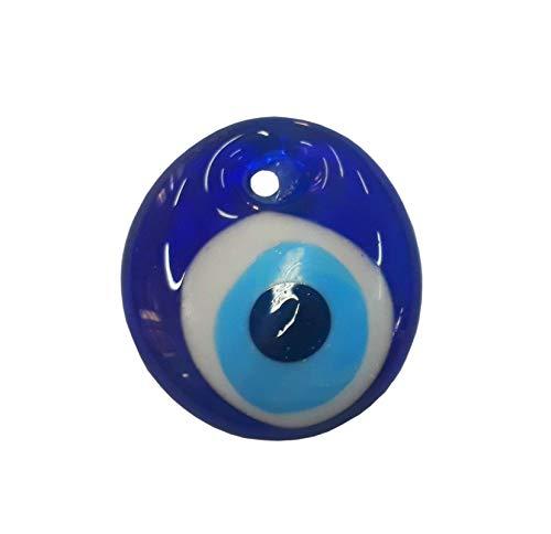Nazar Boncuk Boncugu 2,5/3/4/5 cm Blaues Auge, Evil Eye, Türkischer Glücksbringer, Gastgeschenke Glas Perlen Dekoration Amulett Anhänger Wanddeko Babyparty Sünnet bebek sekeri (1, 5cm)