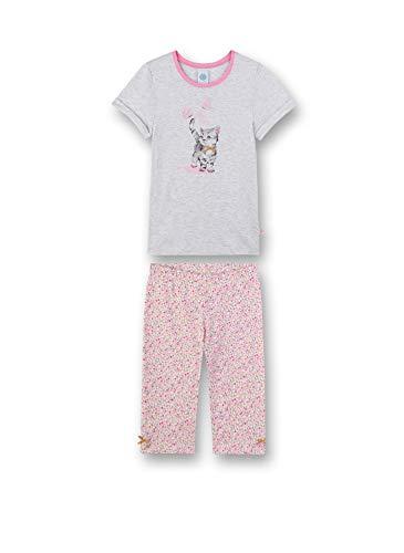 Sanetta Mädchen Pyjama kurz Zweiteiliger Schlafanzug, Beige (beige 1980), (Herstellergröße:140)