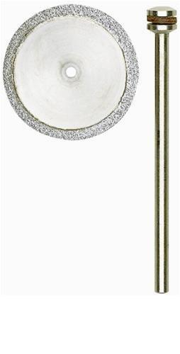 PROXXON PRO-2228840 Disco da Taglio diamantato 20 mm con Supporto, Nero