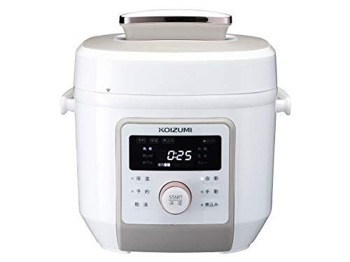 コイズミマイコン電気圧力鍋2.0L6種類自動メニューワンタッチ55品搭載レシピブック付きホワイトKSC-4501/W