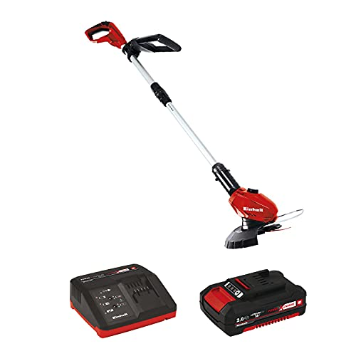 Einhell GE-CT Power X-Change 18-Volt Cordless 10-Inch Grass Trimmer / Edger, w/ 20pcs of Replacement Blades, Rotatable Motor Head, Telescopic Handle, Flower Guard
