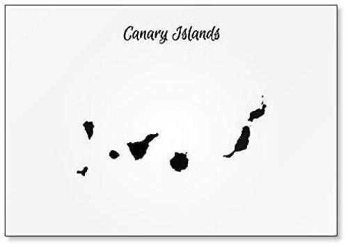 Kaart van de Canarische Eilanden Illustratie Classic Koelkast Magneet