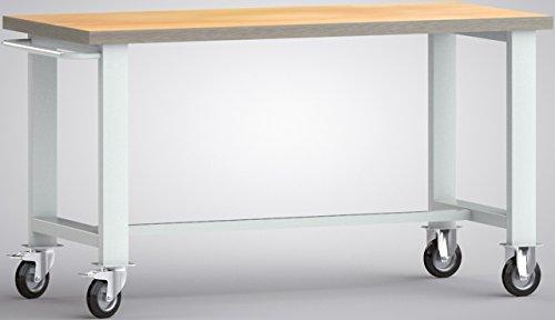 Metall-Meister Werkbank fahrbar mit Schiebebügel 1500x700x840 LxTxH Modell WS800N-1500M40-X1890