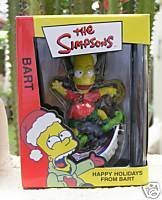 Happy Holidays From Bart Simpson 2003 Xmas Ornament