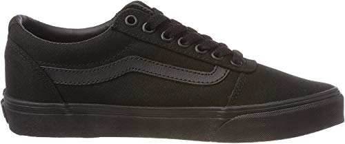 Vans Herren Ward Sneakers, Schwarz (Canvas) Black 186, 42 EU