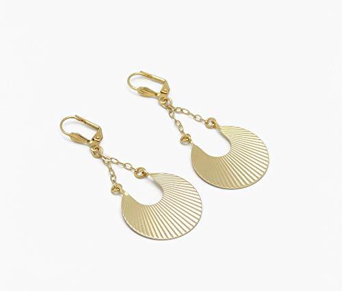 Boucles d'oreilles EVENTAIL or 24K cadeaux personnalisés...
