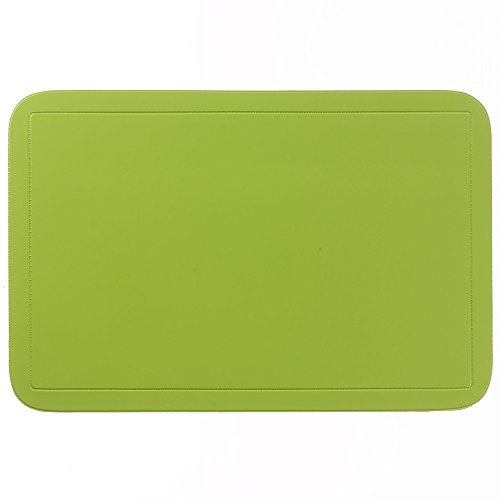 kela Tisch-Set Uni 43,5x28,5cm aus PVC in lemongrün, Polyester, Lemon grün, 43.5 x 28.5 x 1 cm