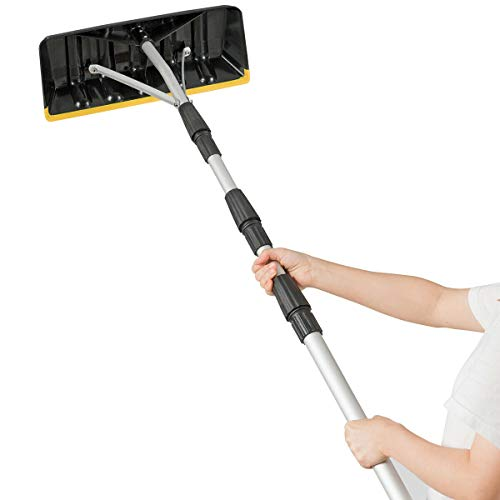Review Of Convenient Operate Special Lightweight Non-Slip Handle Snow Wet Leaves Debris Removal Roof...