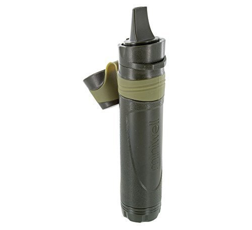 Water Filter Straw - Triple filtration to 0.05 Microns, Highest Filtration Available. Miniwell L600. Carbon Fiber, UF filters can be easily cleaned or replaced. Weighs only 3.5 ounces! Ideal for emergency prepardness, traveling, camping, hiking, fishing, or any where you need safe, clean water. by miniwell