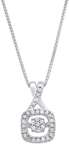 Dancing Diamond XoXo Cushion Pendant Necklace in 925 Sterling Silver by Parade of Jewels 1 10 product image