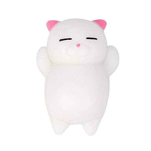 N-B Funny Rubber Cute Cartoon Cat Decompression Ball Rely On Toy Dwarf Toy Cute Animal Anti-stress Ball Funny