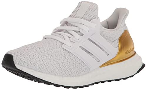 adidas Women's Ultraboost 4.0 DNA Running Shoe, White/White/Black, 7