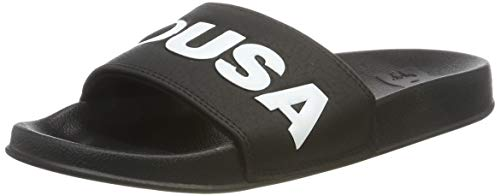 DC Shoes DC Slide, Zapatos de Playa y Piscina Hombre, Negro (Black/White BKW), 43 EU