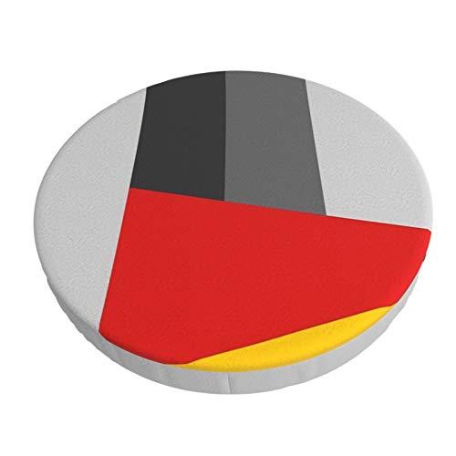 Fedso Runde Barstuhl-Kissenbezug, atmungsaktiv, waschbar, Hocker-Bezug, Bauhaus-Turm-Barhocker, Sitzbezüge, elastischer Hocker-Schonbezug, 33 cm