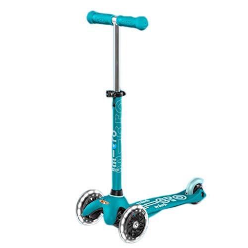 Scooters para Niños Scooter de alta elasticidad para niños de 3 a 14 años con ruedas de flash, scooter de niños 4 altura ajustable, scooters para niños pequeños PU extra anchos LED llantas Antidesliza