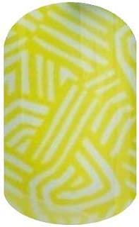 Jamberry Nail Wraps - September 2016 Stylebox Trendy 1 - HALF Sheet - Bright Yellow Geometric